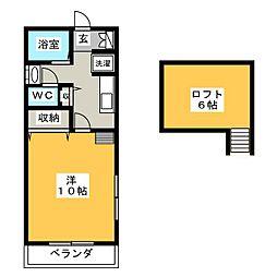 KGハイツI[2階]の間取り