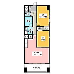 MAPLE ANEST SHINSAKAE[5階]の間取り
