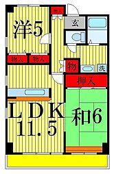 フレール東綾瀬[5階]の間取り