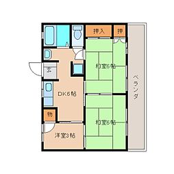 静岡県静岡市清水区北脇の賃貸マンションの間取り