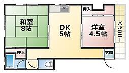 植原マンション[3階]の間取り