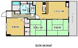 エスパシオ神戸[6階]の間取り