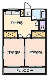 第2コーポサンフラワー[2階]の間取り