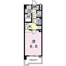 宮崎県宮崎市一の宮町の賃貸マンションの間取り