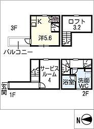 [タウンハウス] 愛知県名古屋市港区辰巳町 の賃貸【/】の間取り