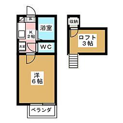 ロフティ古城I[2階]の間取り