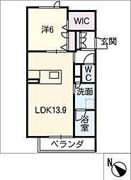 仮)JA賃貸豊田市金谷町2丁目 2階1SLDKの間取り