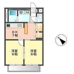 サンシャインII[2階]の間取り