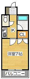 キャンパスシティ太宰府[419号室]の間取り