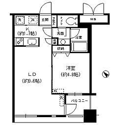 レジディア横濱馬車道[5階]の間取り