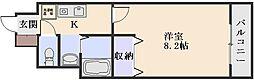 ベラカーザ祇園[1階]の間取り