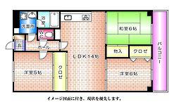 パールマンション[402号室]の間取り