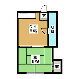コーポ大博A・B[2階]の間取り