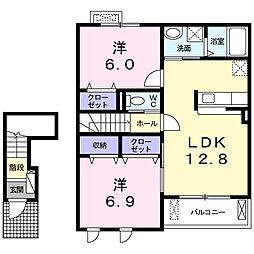 Casa Vento I[202号室]の間取り