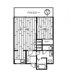 ロイヤル88[3B号室号室]の間取り