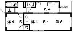 藤野コーポ[201号室号室]の間取り