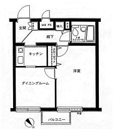 クリオ毛呂山[304号室]の間取り
