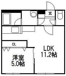 Leon 東札幌[105号室]の間取り