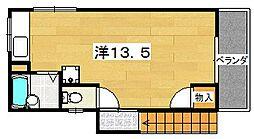 上野1丁目ハウス[2号室]の間取り