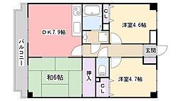 ラ・フォレ薬円台[202号室]の間取り