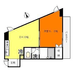 トーレタケダ[3階]の間取り