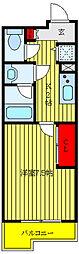 JR埼京線 北赤羽駅 徒歩4分の賃貸マンション 4階1Kの間取り