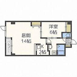 北海道札幌市豊平区豊平七条10丁目の賃貸マンションの間取り