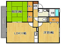 セジュールME伊藤[2階]の間取り