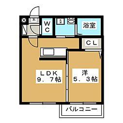 Lumie're琴似[2階]の間取り