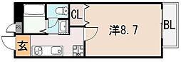 大阪府東大阪市下小阪4丁目の賃貸アパートの間取り