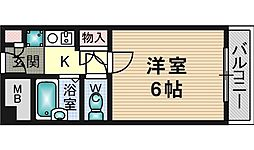 大阪府茨木市豊川4丁目の賃貸アパートの間取り