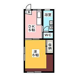 第2丸本ビル[4階]の間取り