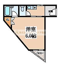 大阪府堺市東区白鷺町1丁の賃貸マンションの間取り