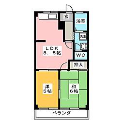 サンクエストA[2階]の間取り