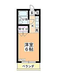 ステーションヴィラ鶴ヶ島[203号室]の間取り
