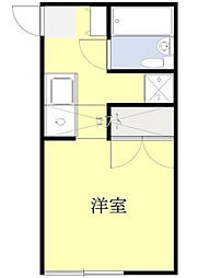 神奈川県横浜市中区本牧町1丁目の賃貸アパートの間取り