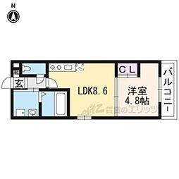 サクシード伏見駅前 地下1階1LDKの間取り