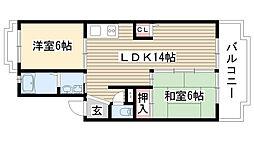 愛知県名古屋市名東区猪高台2の賃貸マンションの間取り