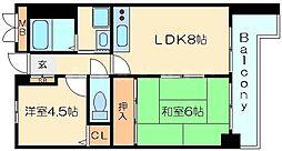 ライオンズマンション新大阪第6[7階]の間取り