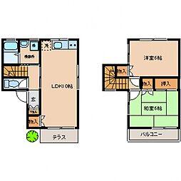 カームハイツB棟[102号室号室]の間取り