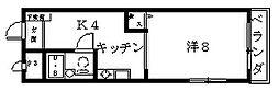 兵庫県西宮市上大市1丁目の賃貸マンションの間取り