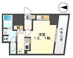 コーンズハウスナゴヤ(CORNES HOUSE NAGOYA[10階]の間取り