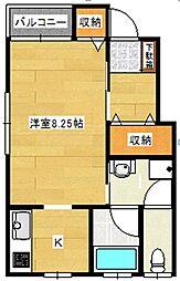 エトワール東栄町[1階]の間取り