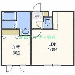 北海道札幌市東区北二十七条東20丁目の賃貸アパートの間取り