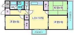 カワデンマンション[406号室]の間取り