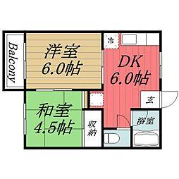 千葉県千葉市緑区あすみが丘1の賃貸アパートの間取り