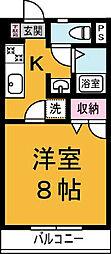 シーズ桜‐C[102号室]の間取り