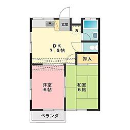 名古屋第2コーポ[1階]の間取り