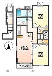 オリオンハイムII[2階]の間取り