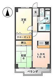 サンケンユーム[1階]の間取り